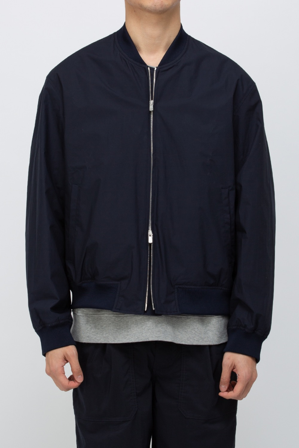 BOMBER JACKET COTTON 80/1 TYPEWRITER CLOTH URETHANE COATING