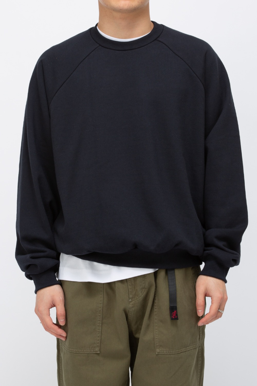 HEAVY WEIGHT OVERSIZE SWEATSHIRT(PREMIUM BASIC) NAVY