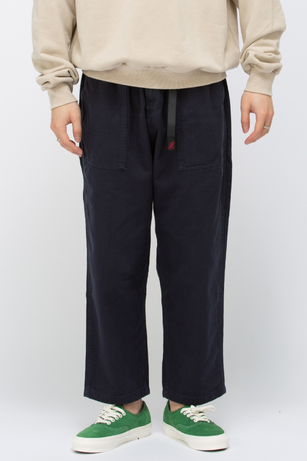 (21SS)LOOSE TAPERED PANTS NAVY