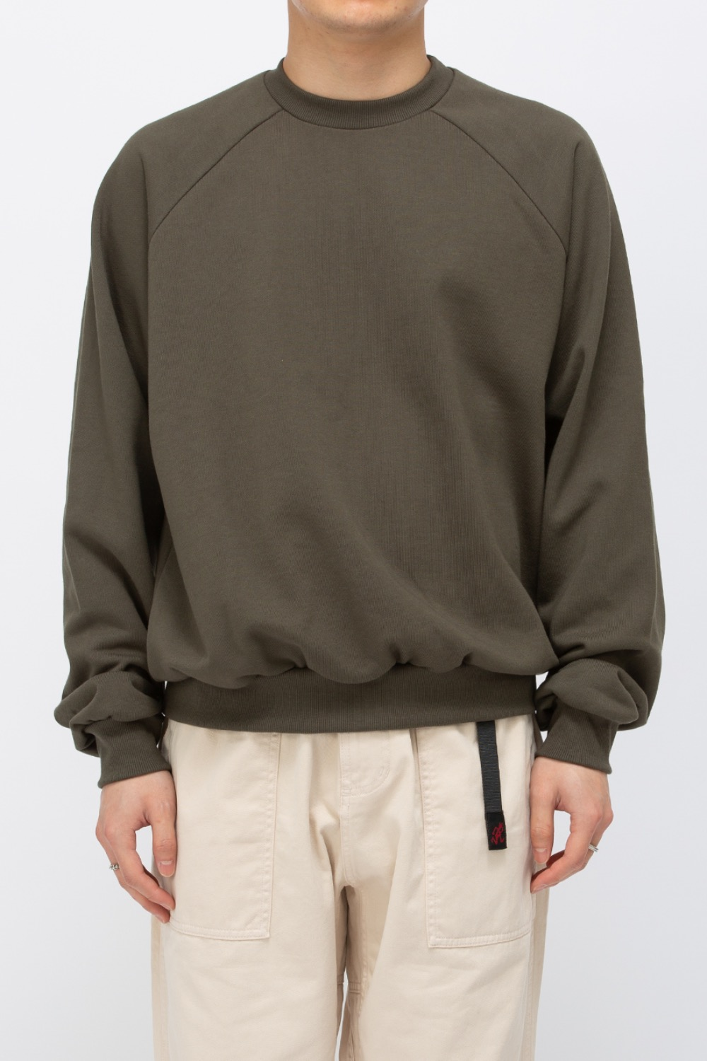 HEAVY WEIGHT OVERSIZE SWEATSHIRT(PREMIUM BASIC) OLIVE