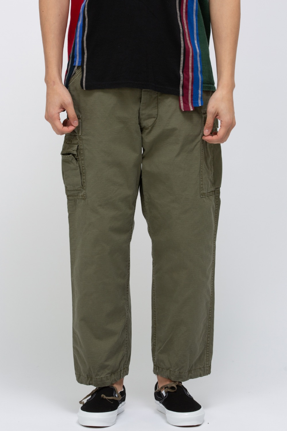 "(FP003)FATIGUE SLACKS ""T-54 SLACKS"" COTTON RIPSTOP OD SPECIAL WASH"