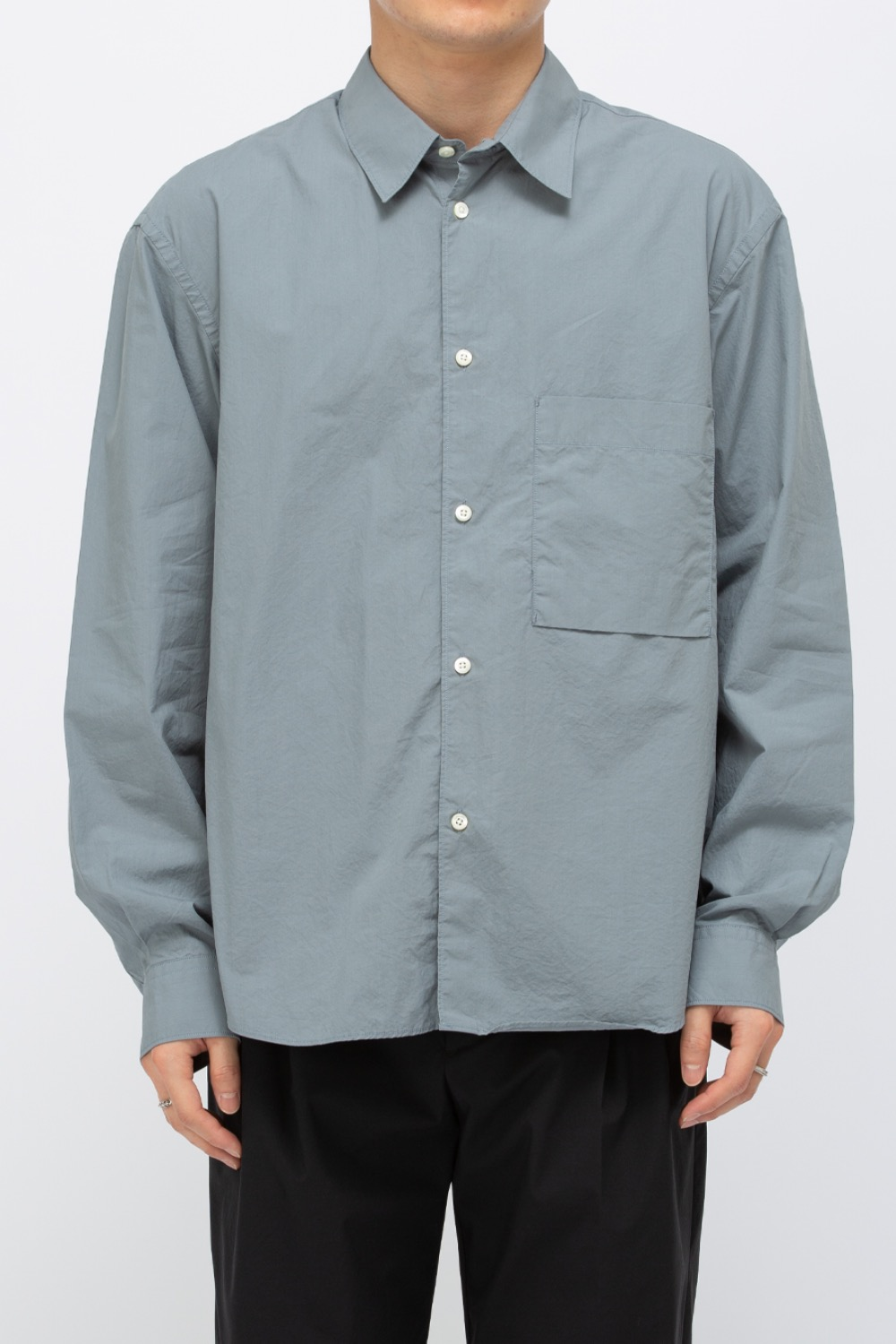 LOGO LABEL SHIRT BLUE