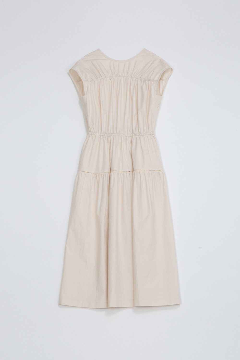 DE CUT-OUT DRESS - IVORY COTTON