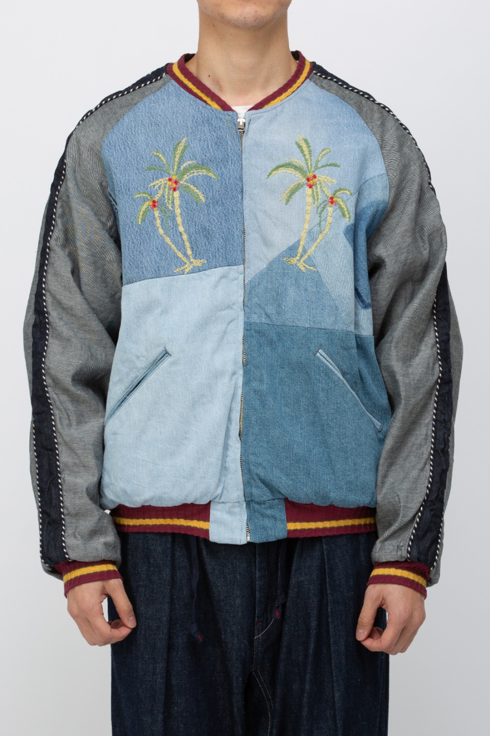 DENIM RECONSTRUCTION SOUVENIR JACKET(K2103LJ018)