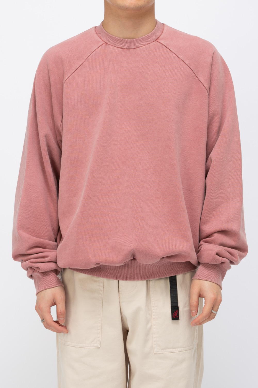 HEAVY WEIGHT OVERSIZE SWEATSHIRT WASHED(PREMIUM BASIC) PINK