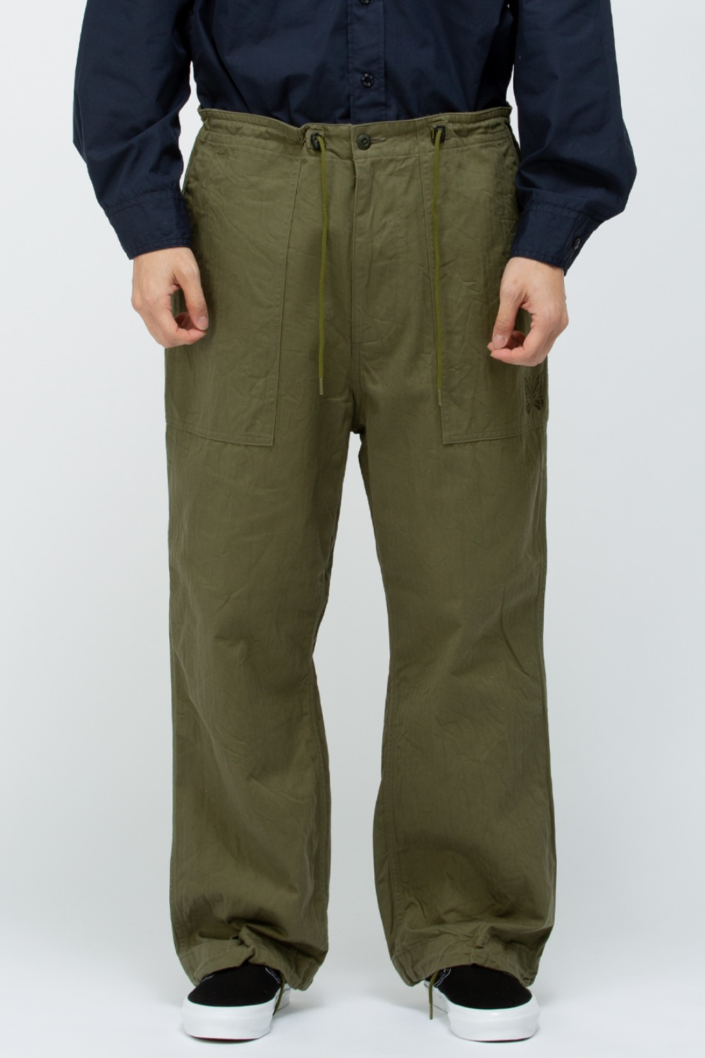 STRING FATIGUE PANT - COTTON HERRINGBONE OLIVE