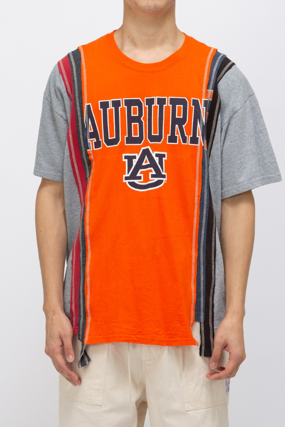 (FRE-5)REBUILD BY NEEDLES 7 CUTS WIDE TEE - COLLEGE