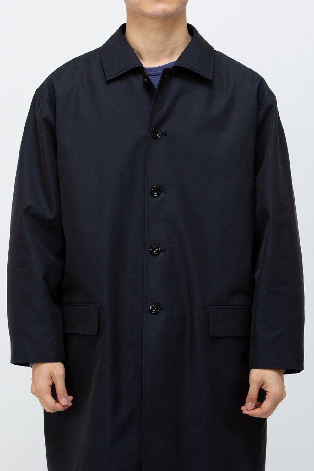 COTTON MAC COAT CM 40/1 Yarn Dyed Twill Water-Repellent