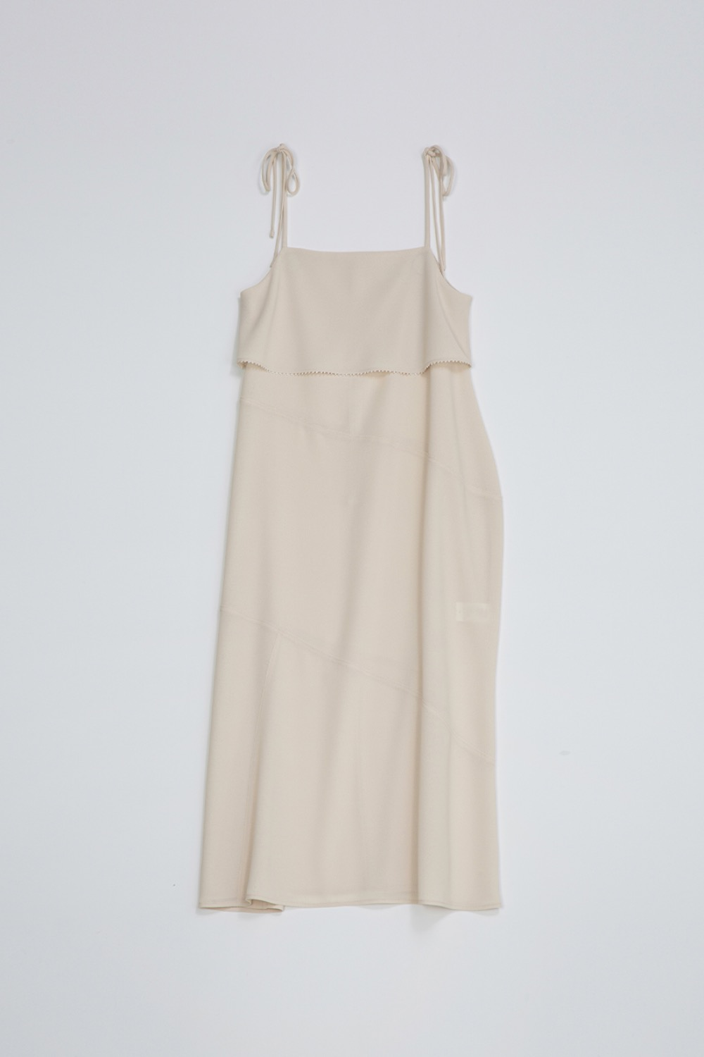 EN FETE SLIP DRESS - CREME CREPE