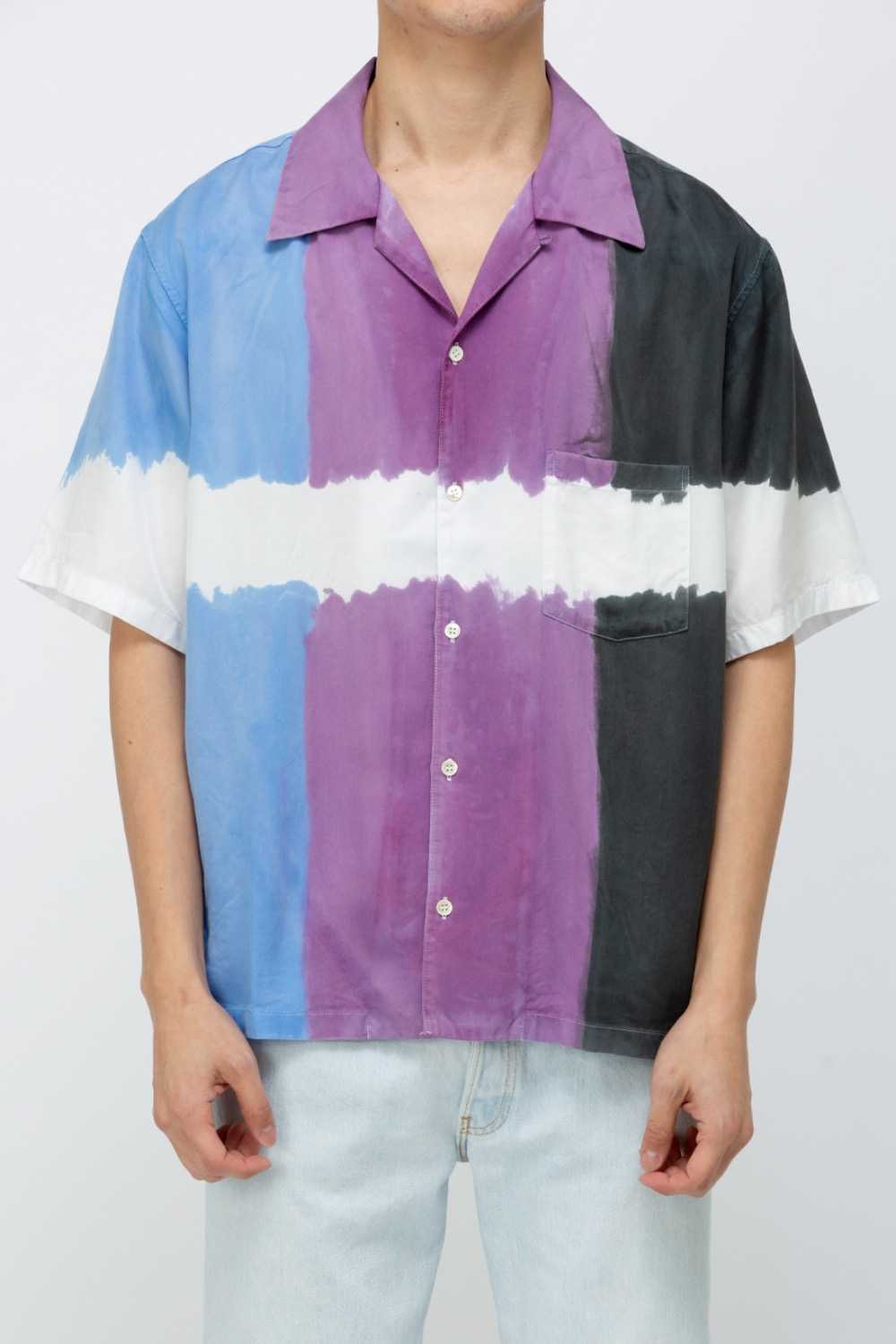 3DYE SS  SHIRT-NATURE BLUE/PURPLE