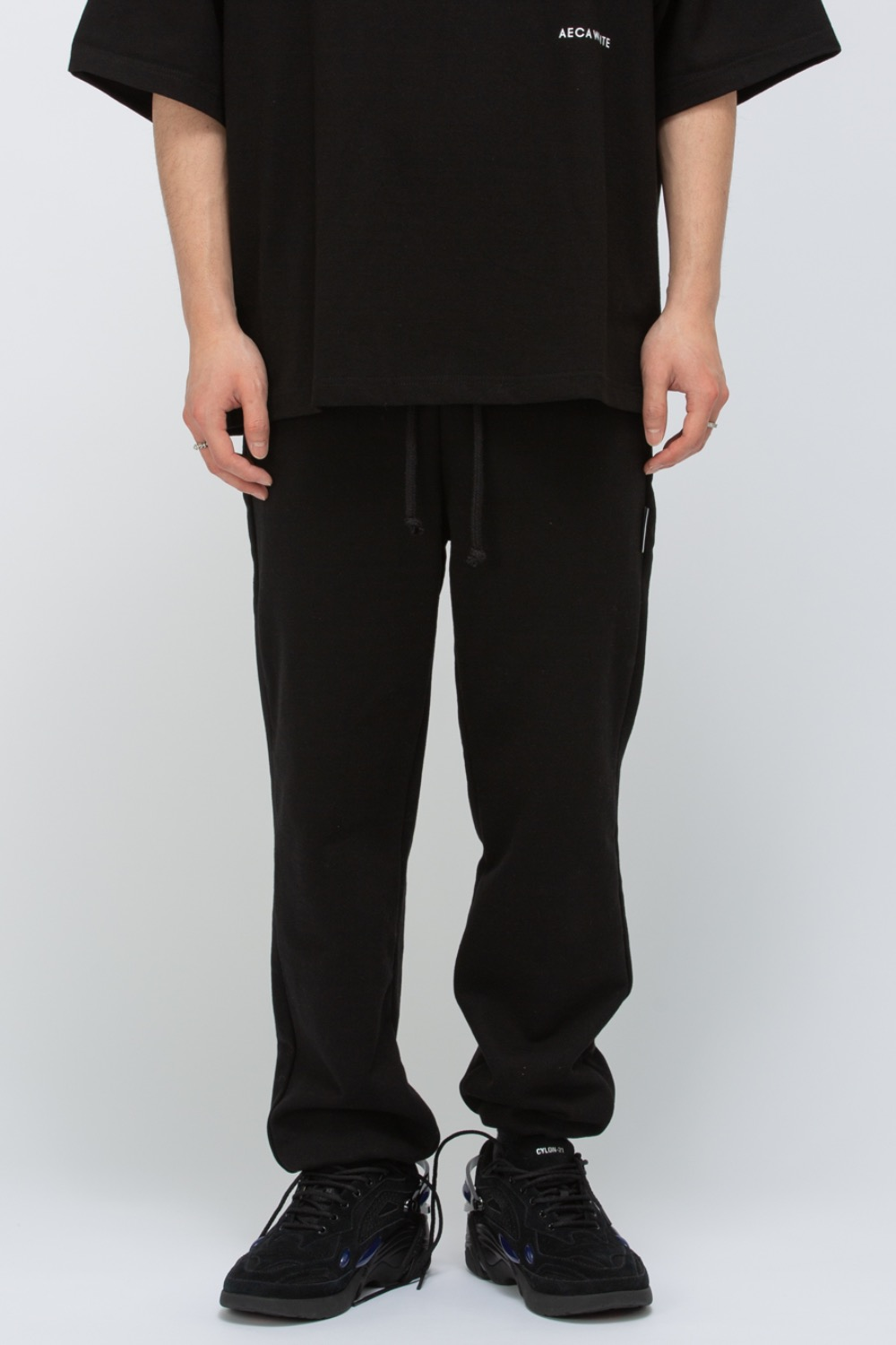 HEAVY WEIGHT CLASSIC SWEATPANTS(PREMIUM BASIC) BLACK