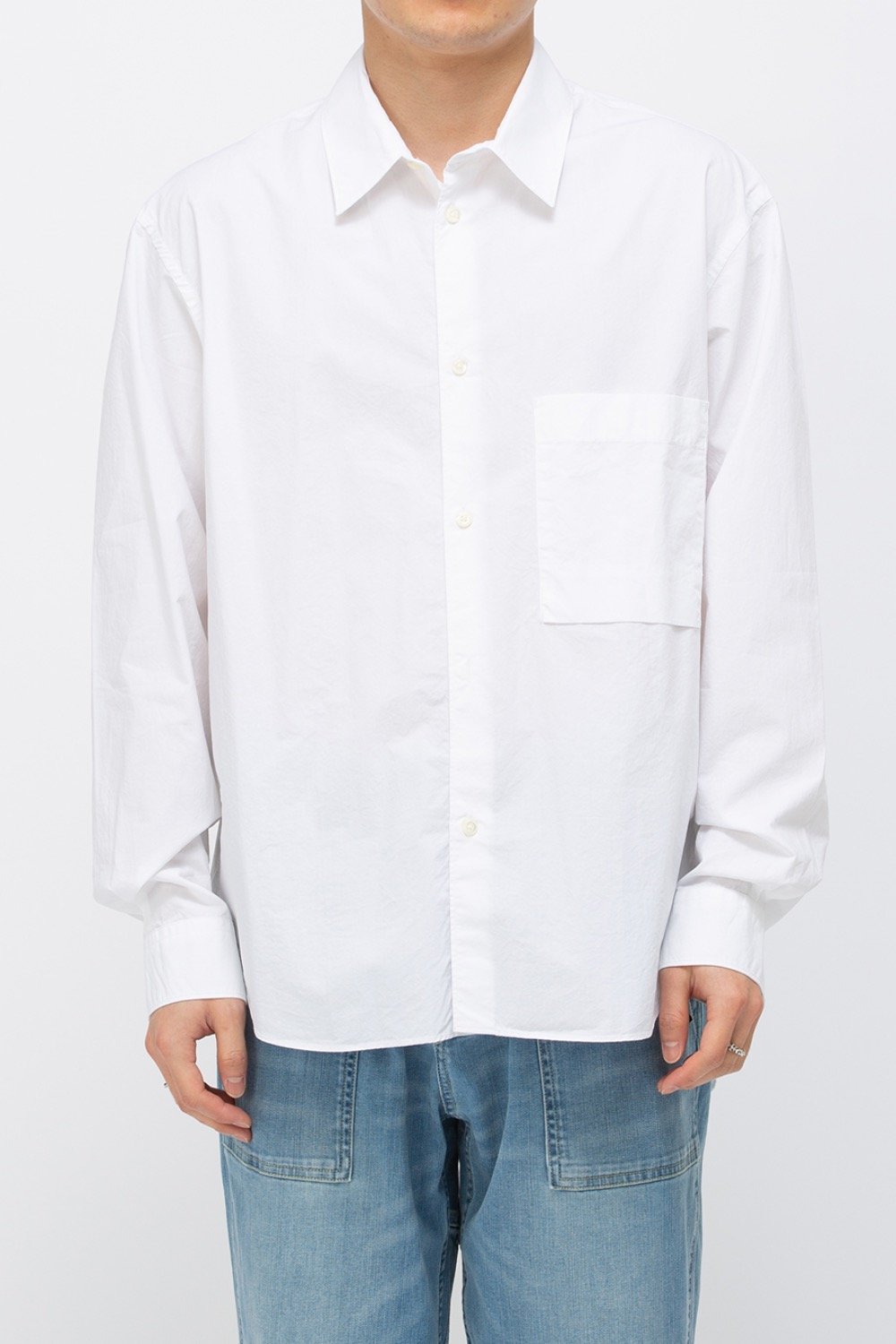 LOGO LABEL SHIRT OFF WHITE