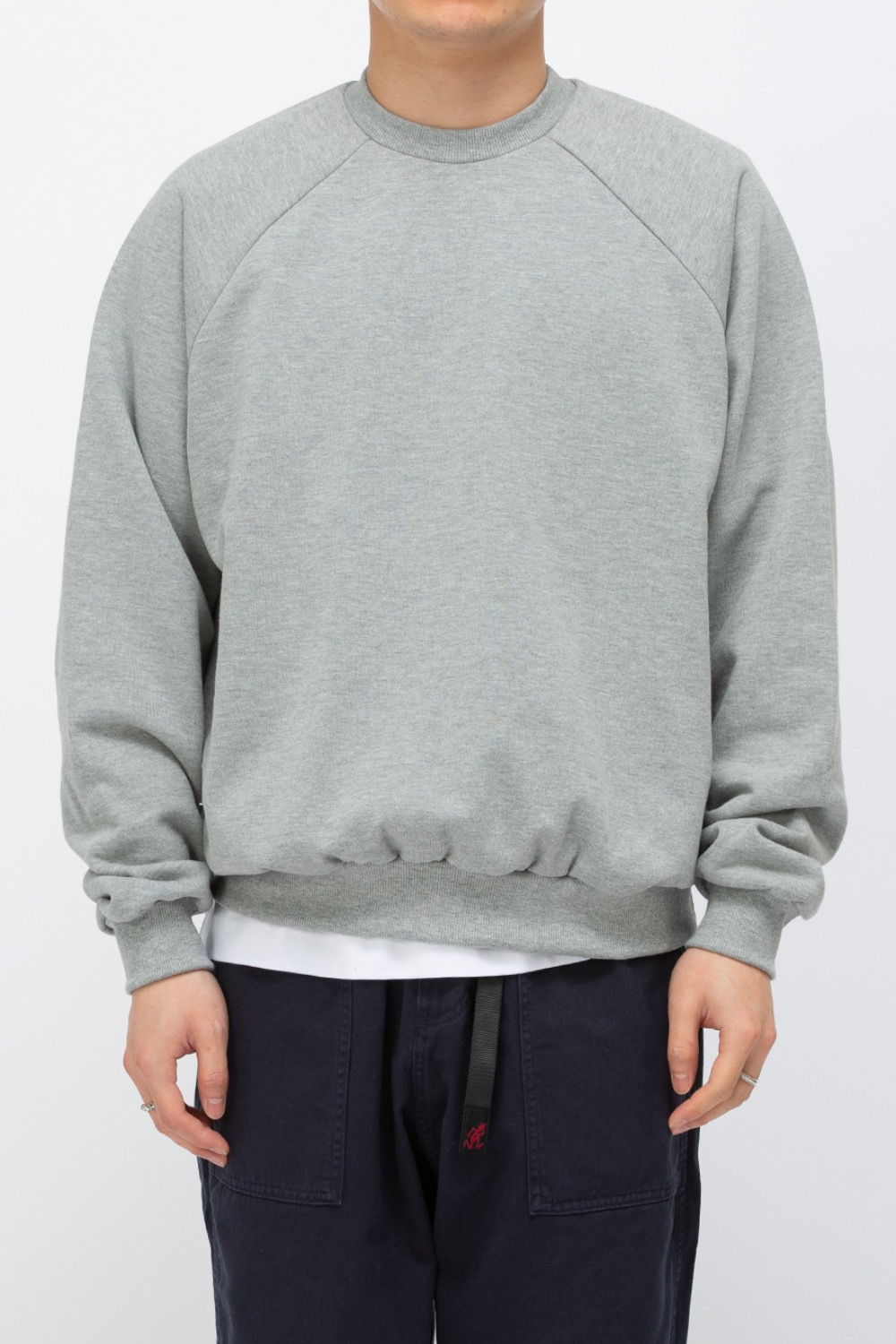 HEAVY WEIGHT OVERSIZE SWEATSHIRT(PREMIUM BASIC) GREY