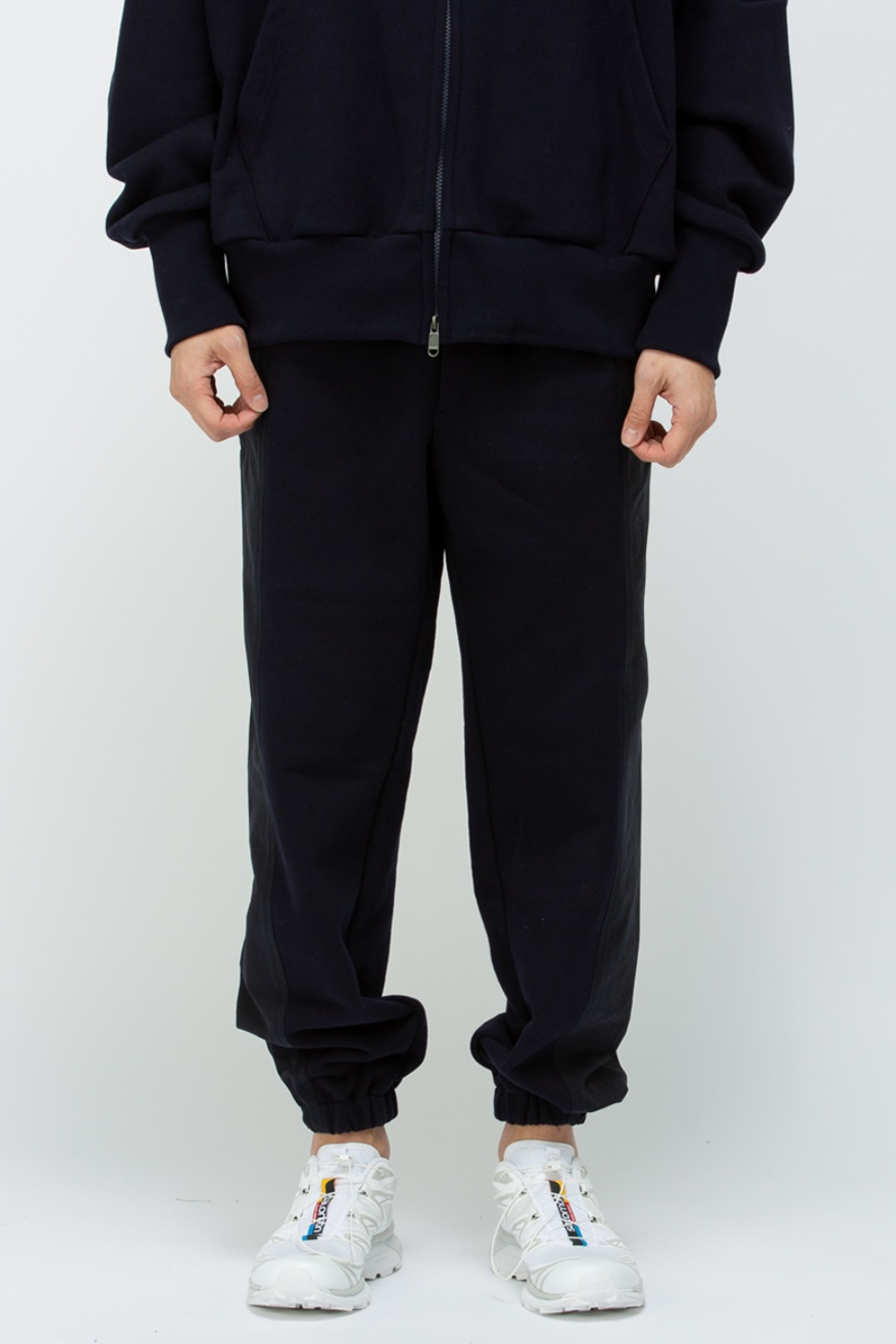 SIGNATURE PANNEL SWEAT JOGGER NAVY