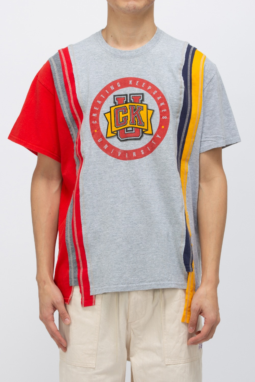 (FRE-1)REBUILD BY NEEDLES 7 CUTS WIDE TEE - COLLEGE