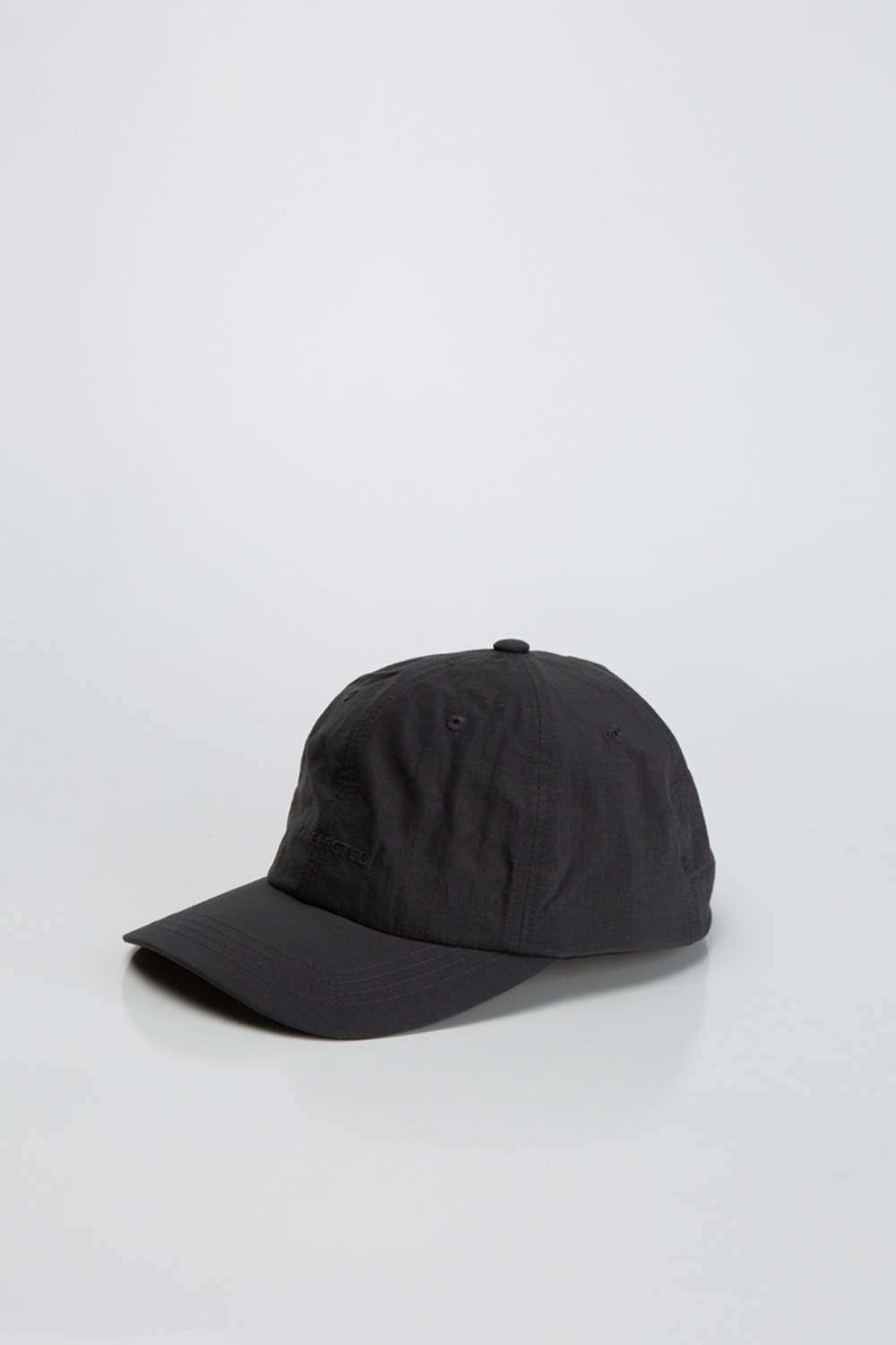 LOGO DRAWSTRING BALL CAP CHARCOAL