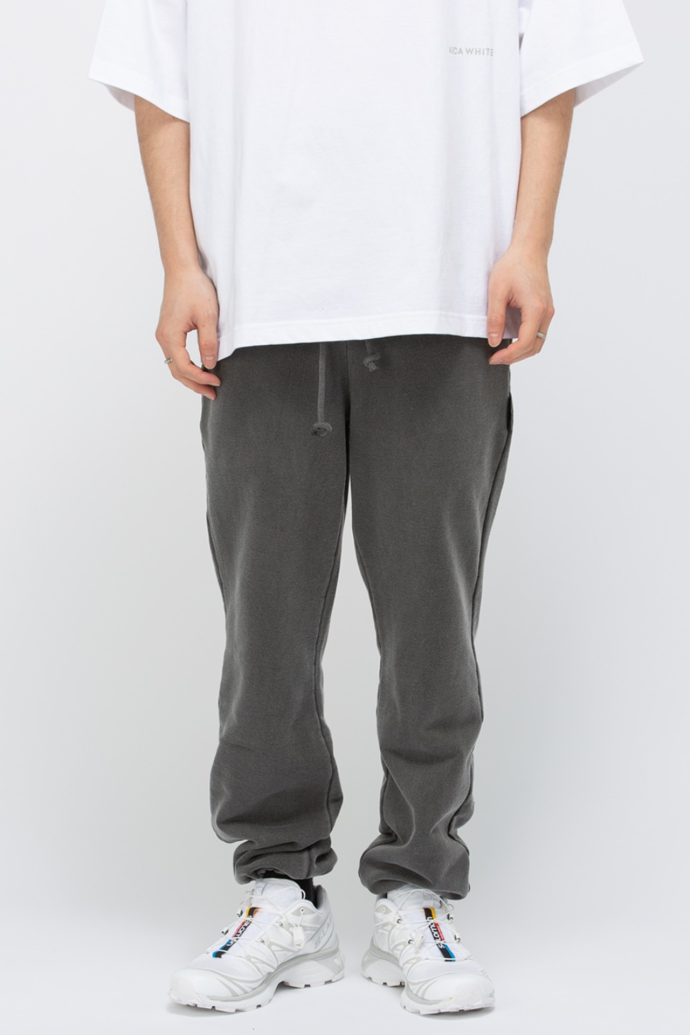 HEAVY WEIGHT CLASSIC SWEATPANTS WASHED(PREMIUM BASIC) CHARCOAL