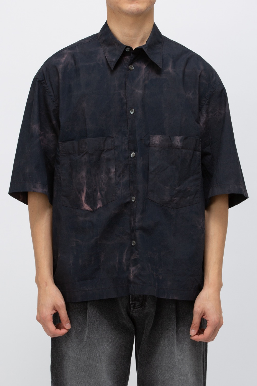 OVERSIZED HALF SHIRT NAVY