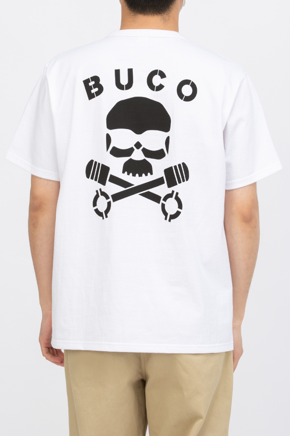 BUCO TEE / SKULL PISTON WHITE