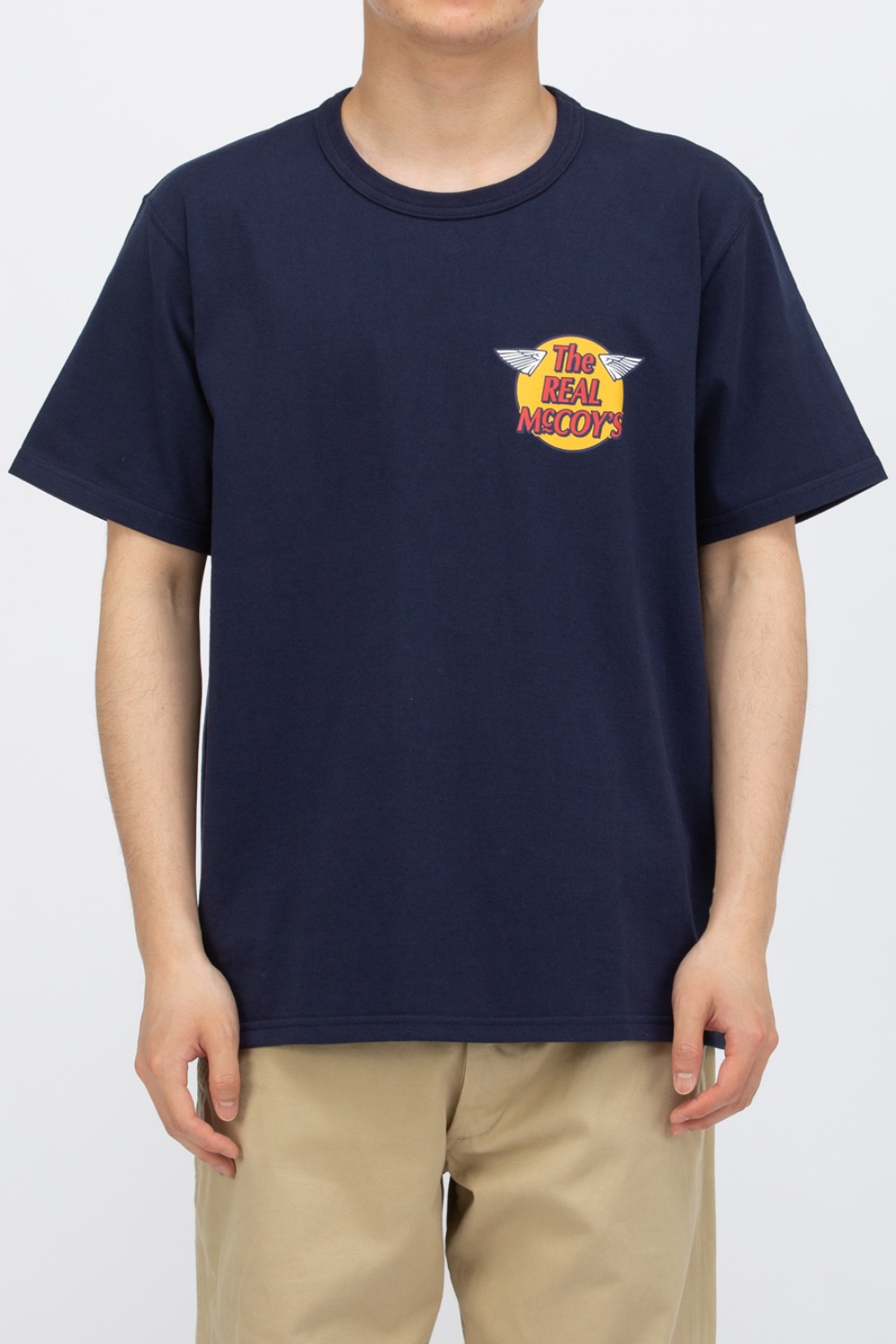 THE REAL MCCOY'S LOGO TEE S/S NAVY