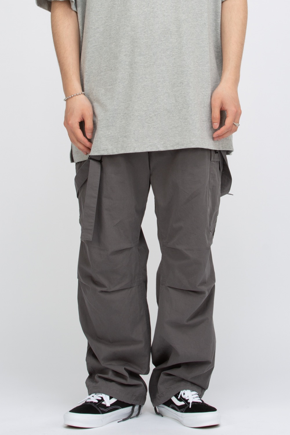 SUSPENDER CARGO PANTS GREY