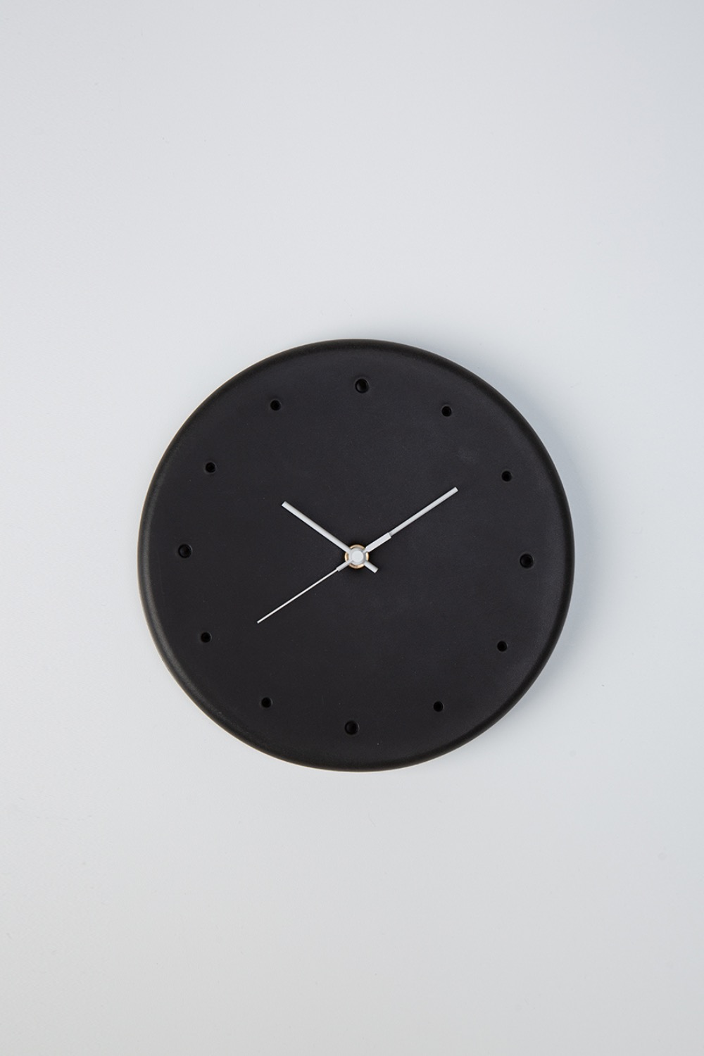 (CT-RC-CLO)CLOCK COW LEATHER BLACK