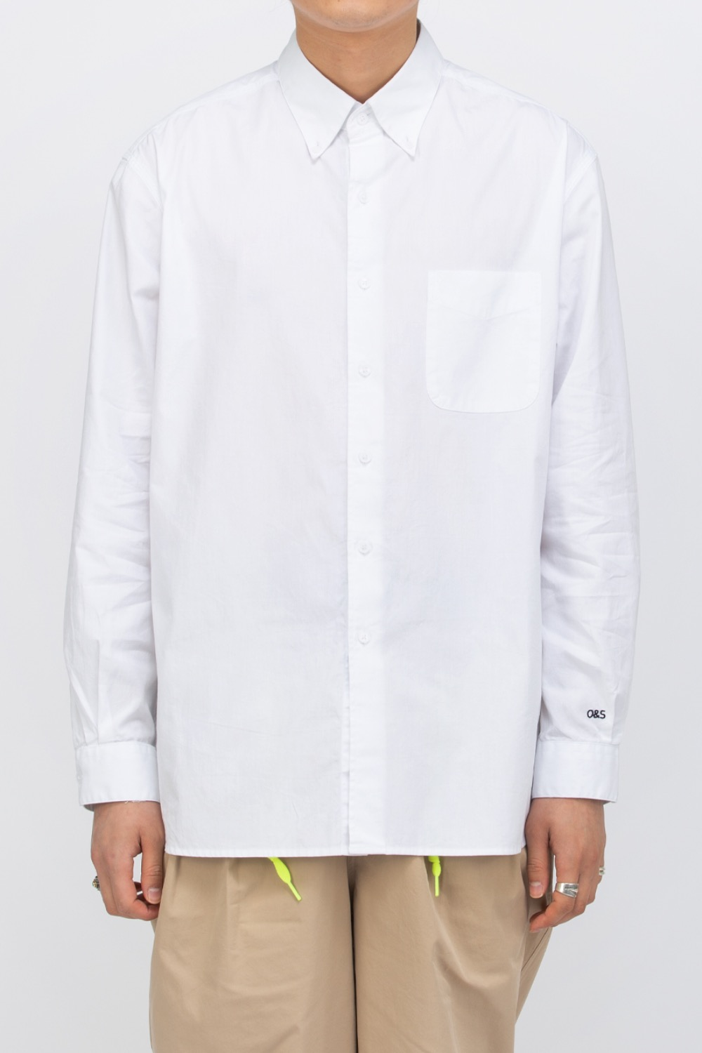 OVERCAST X SCULP_BIG SHIRT WHITE