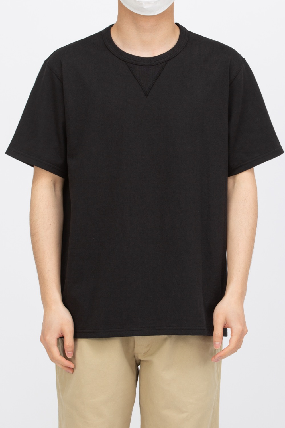 GUSSET  T-SHIRT BLACK